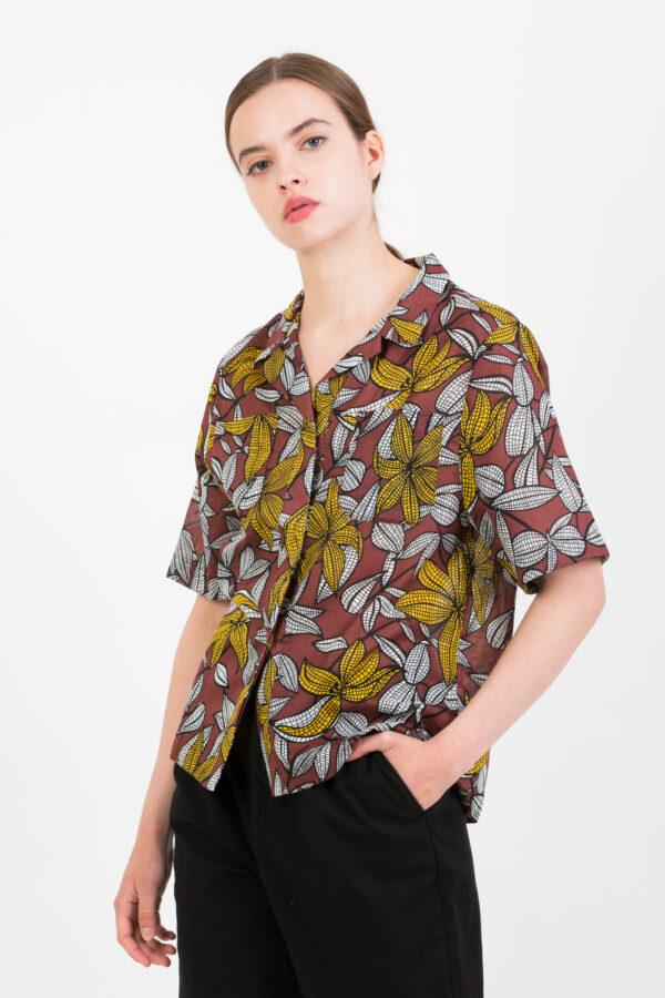 laelie-shirt-cotton-floral-choco-suncoo-matchboxathens