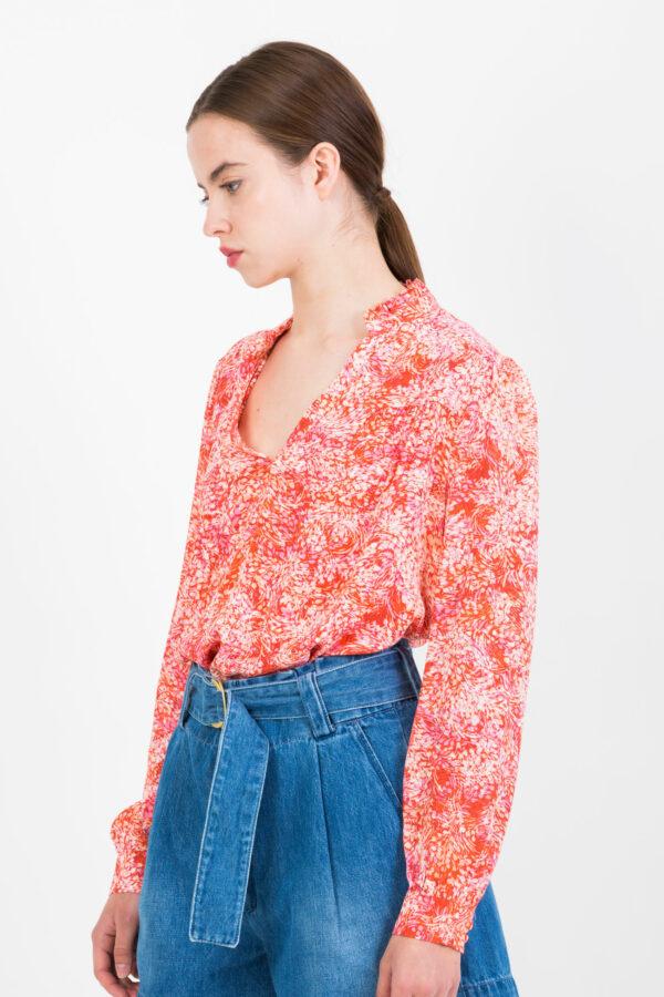 lucy-red-blouse-viscose-ruffle-suncoo-matchboxathens
