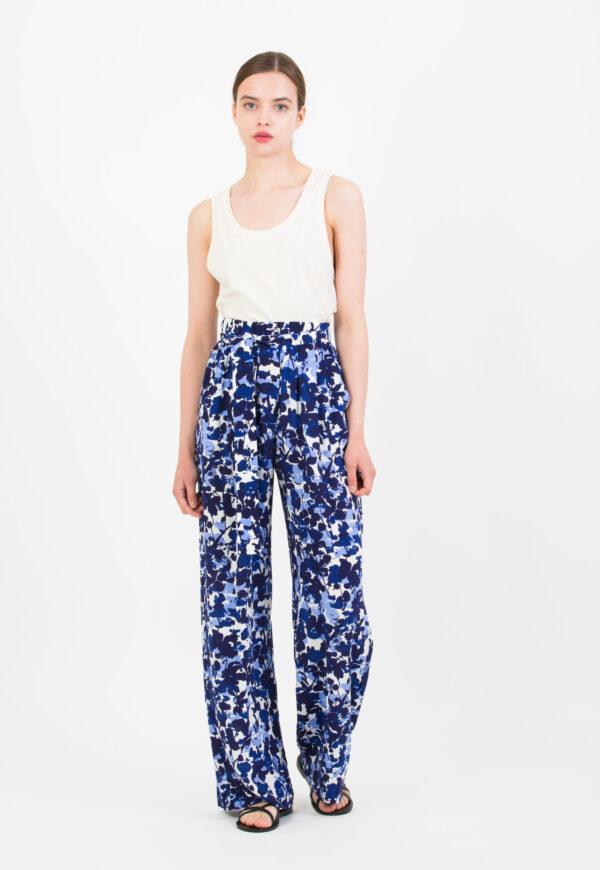 jana-blue-floral-trouser-fluid-suncco-matchboxathens
