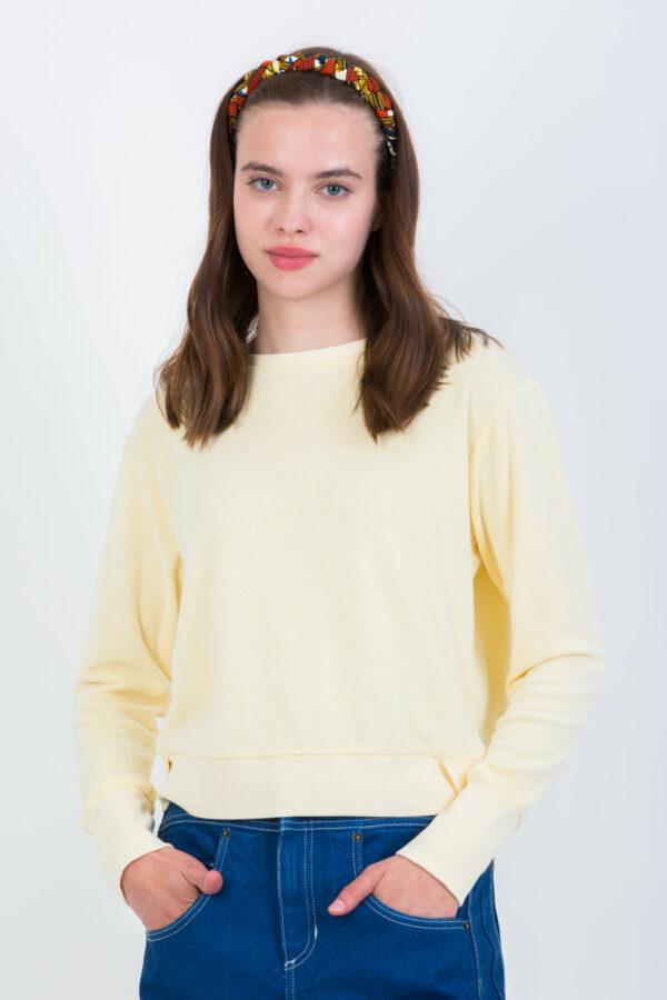 mill-terry-towelling-sweatshirt-yellow-crossley-matchboxathens