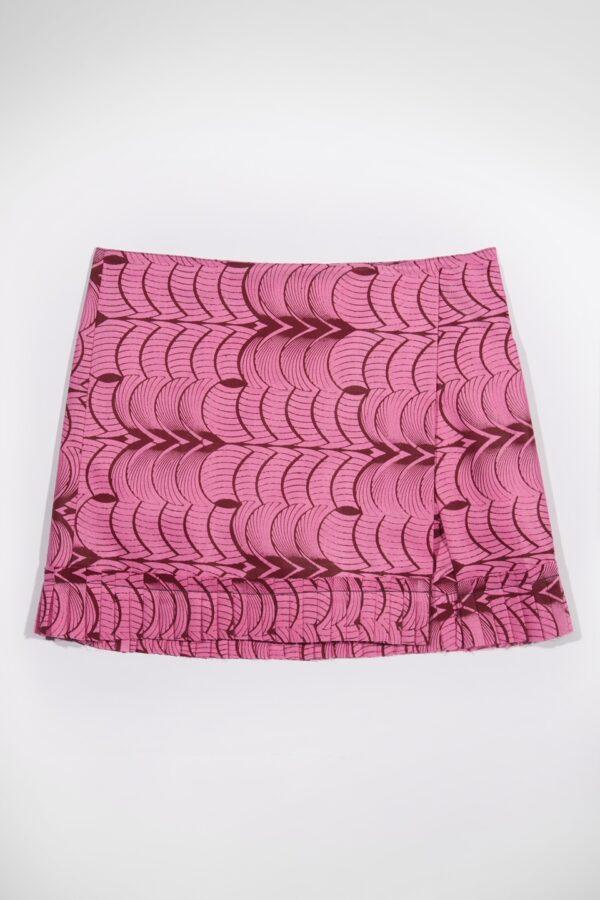 jakili-pink-lashes-framboise-kimale-wax-cotton-skorts-matchboxathens