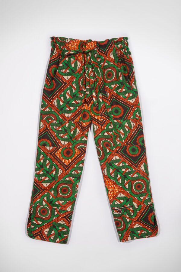 leda-medusa-print-green-kimale-pants-matchboxathens