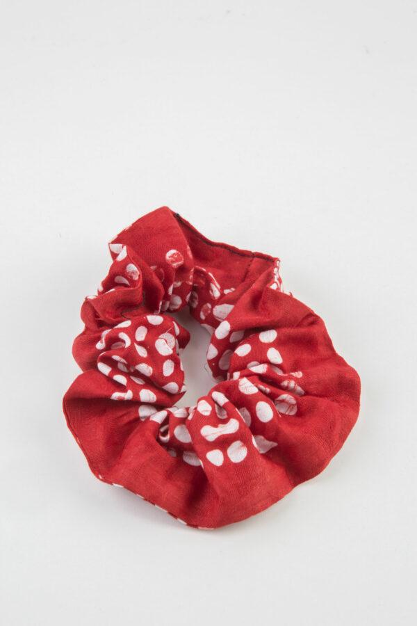 chouchou-red-dots-scrunchie-kimale-matchboxathens