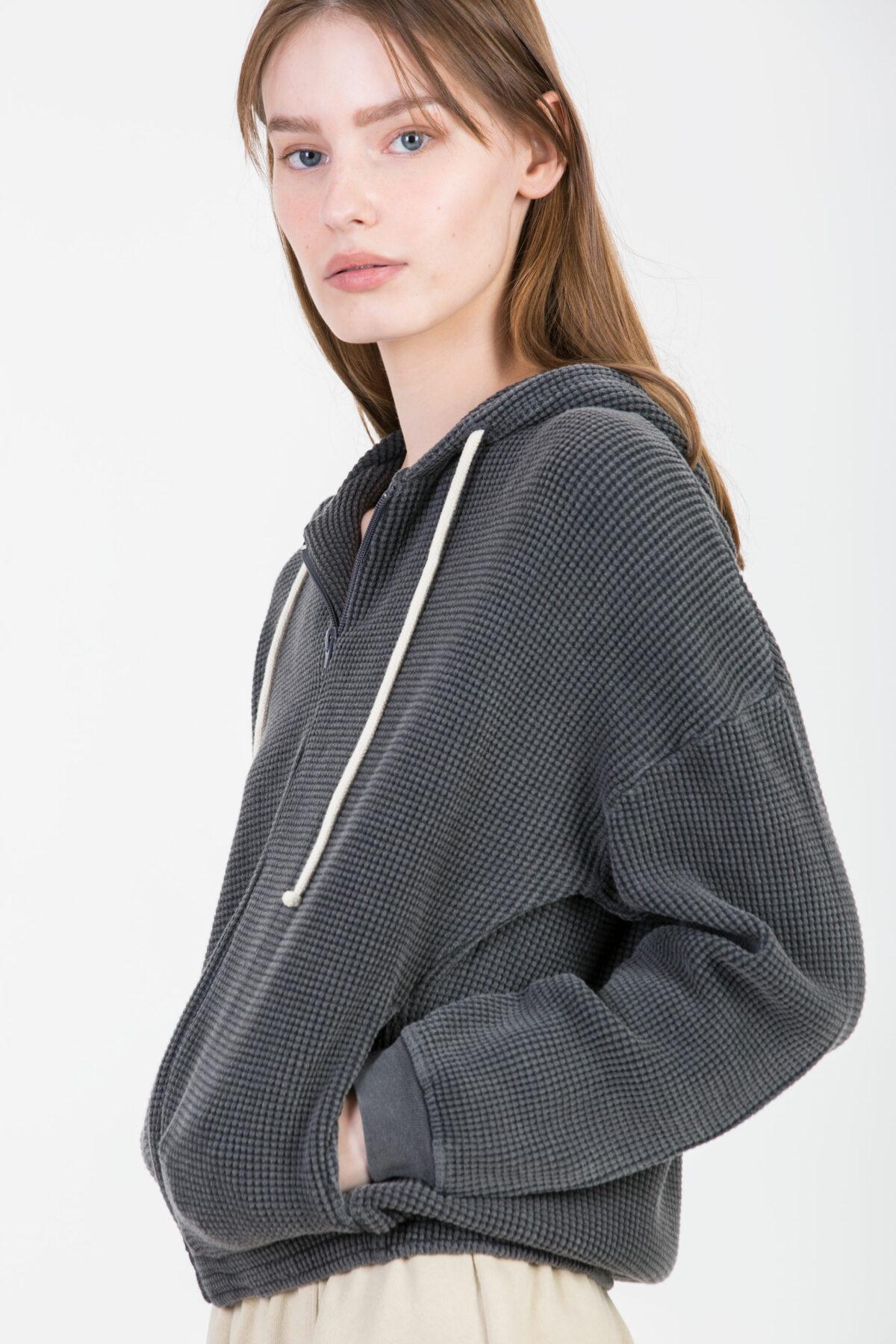 bowilove-grey-hoodie-waffle-cotton-american-vintage-matchboxathens