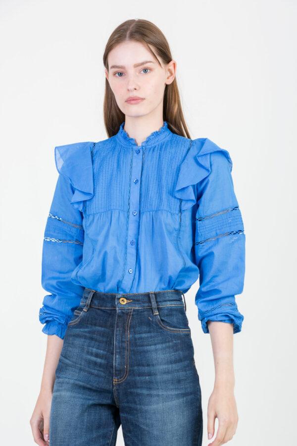candice-blue-cotton-shirt-ruffles-embroidery-berenice-matchboxathens