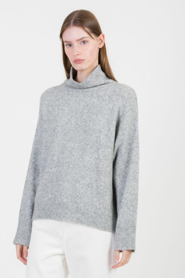 privat-grey-chine-sweater-buttons-turtleneck-suncco-matchboxathens