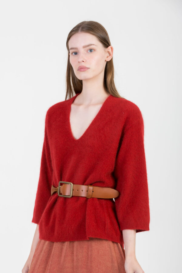 limoni-red-sweater-soft-wool-mesdemoiselles-matchboxathens