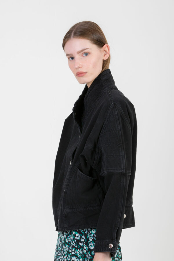 norac-black-stone-denim-jacket-wide-collar-90's-iro-matchboxathens