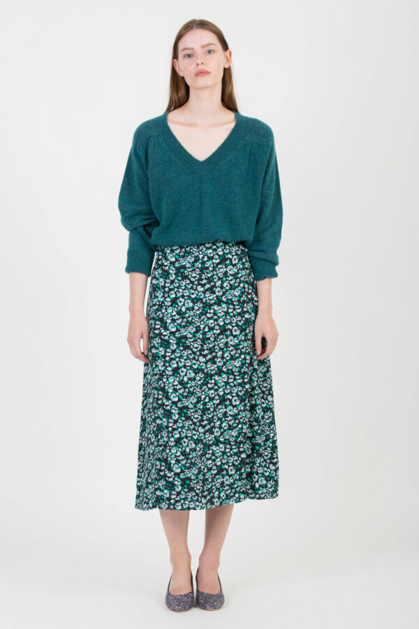 fanny-green-floral-skirt-viscose-suncoo-matchboxathens
