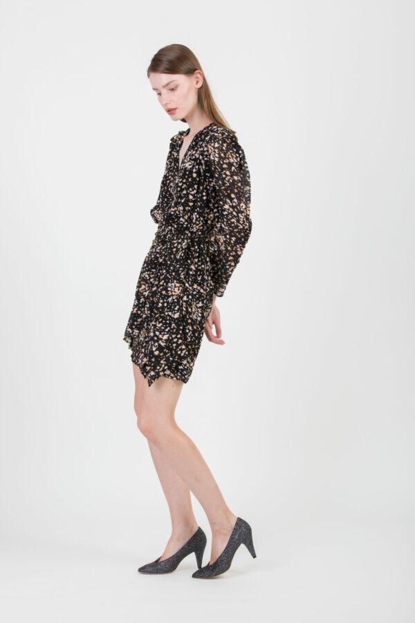 crest-black-multi-print-dress-suncoo-matchboxathens