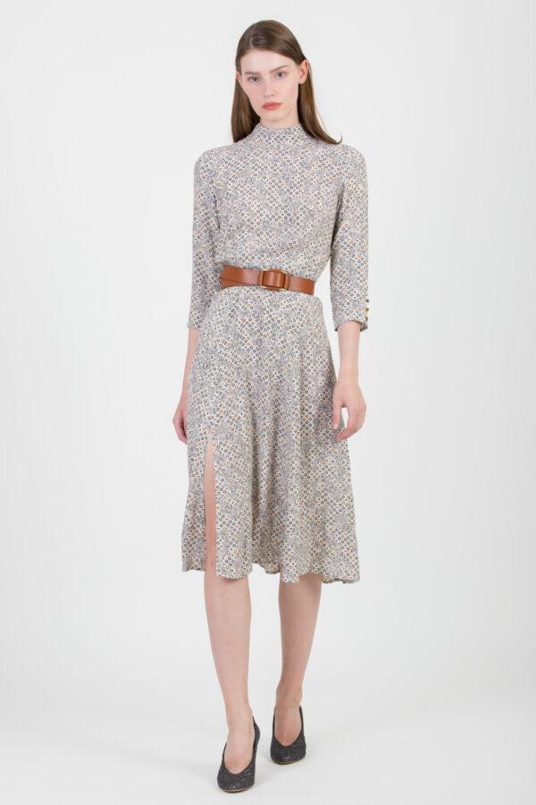 harmonio-printed-viscose-dress-slit-high-neck-sessun-matchboxathens