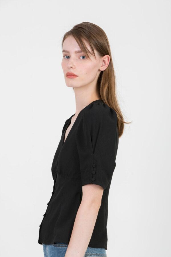 riley-black-top-puffy-sleeves-twist-tango-matchboxathens