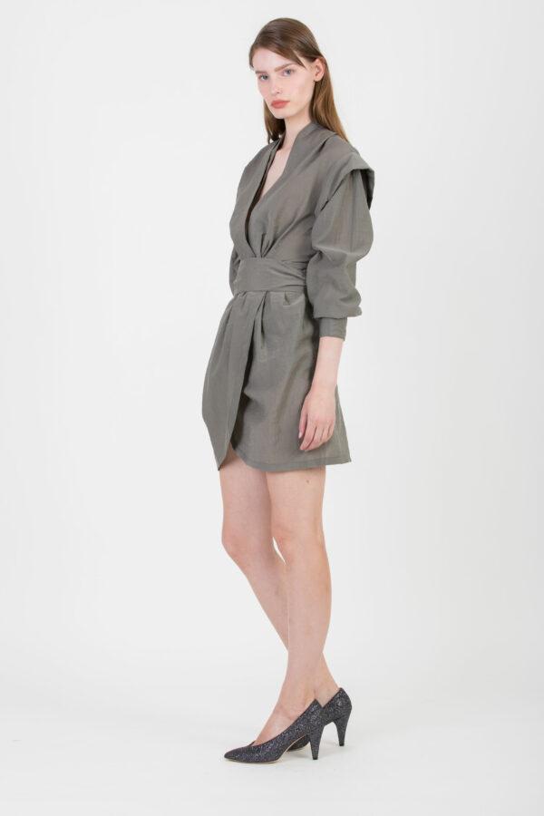 koyu-dress-grey-iro-structured-shoulders-matchboxathens