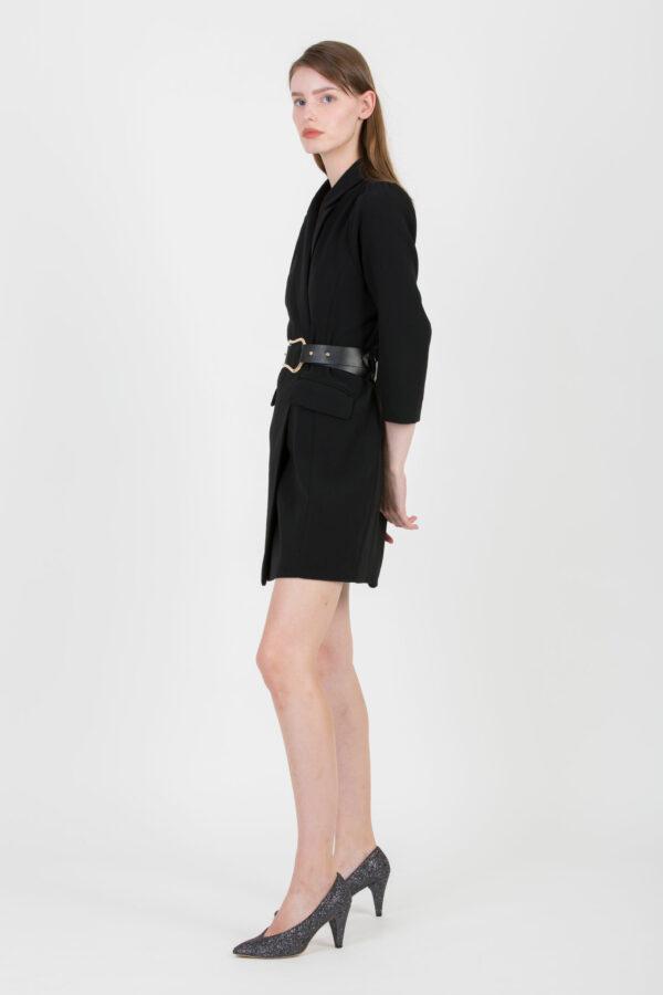 clash-mini-black-dress-blazer-belt-suncoo-matchboxathens