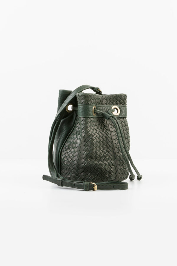 bosphore-dark-green-olive-bucket-bag-woven-claramonte-leather-matchboxathens