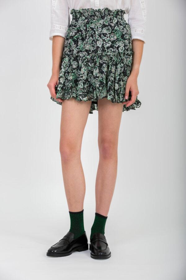 jojoba-green-mini-ruffles-skirt-smocked-berenice-matchboxathens