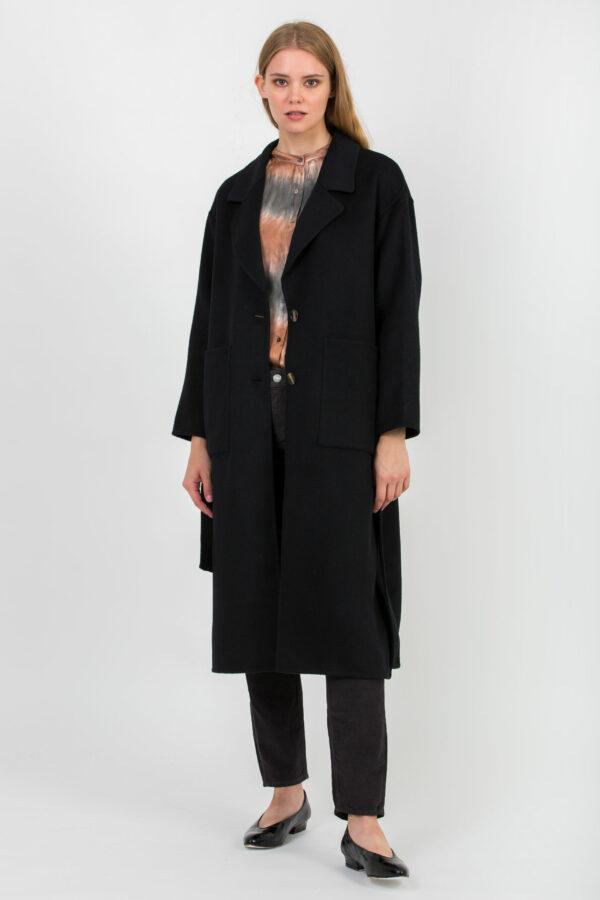 dado-coat-black-wool-oversize-belt-american-vintage-matchboxathens