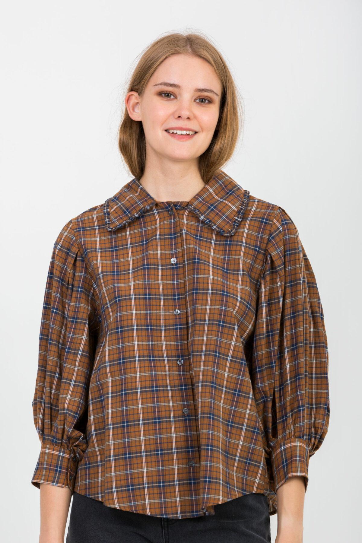 pony-checked-shirt-collar-balloon-sleeves-charlie-joe-matchboxathens