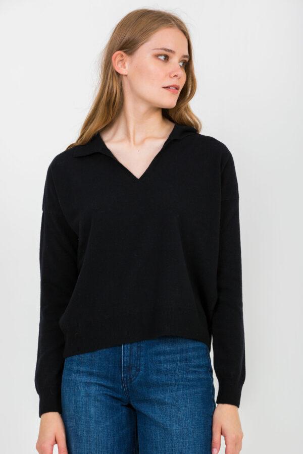 mebbir-wool-black-sweater-crop-vneck-crossley-matchboxathnes
