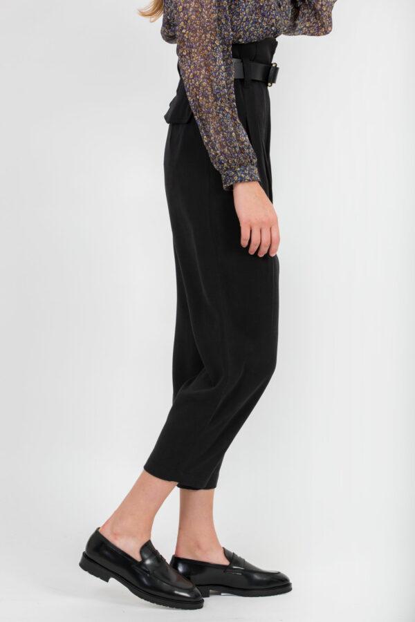 margot-black-twill-pants-high-waist-uniforme-athens-matchboxathens