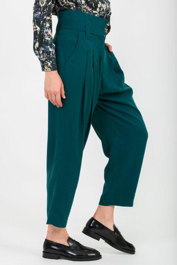 margot-petrol-twill-pants-high-waist-uniforme-athens-matchboxathens