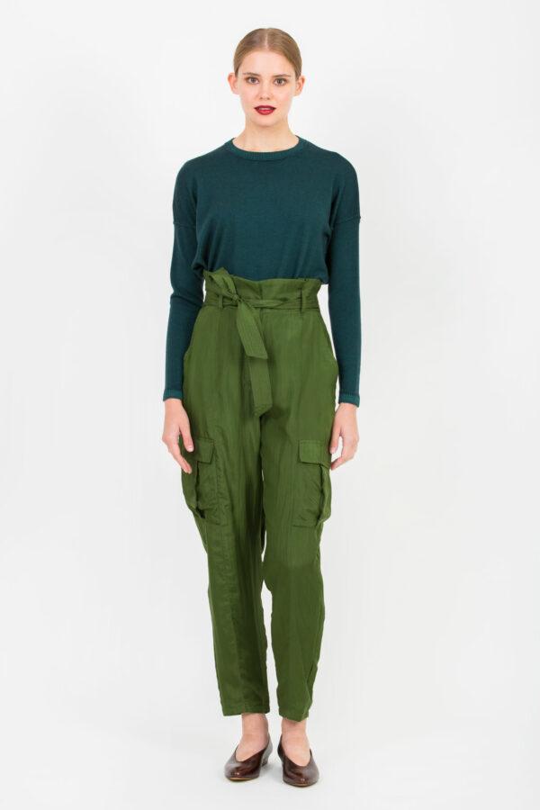 nyanga-trouser-high-waisted-cargo-silk-green-mesdemoiselles-matchboxathens