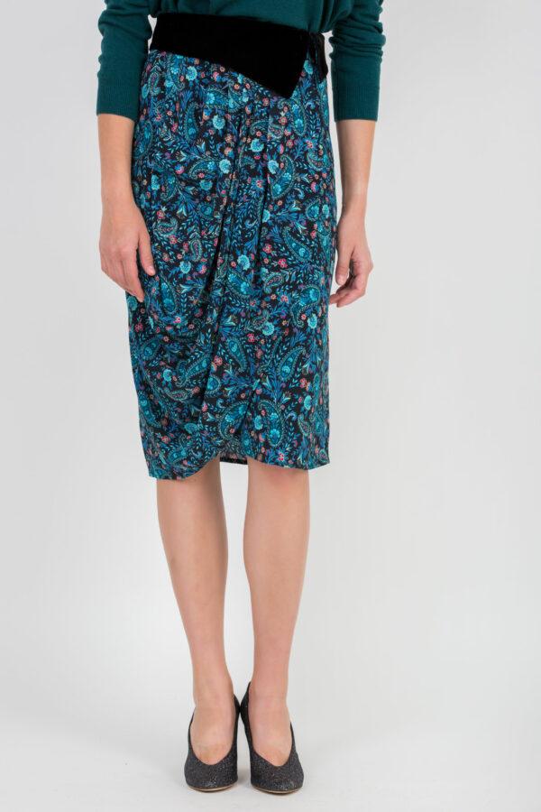 anais-skirt-blue-paisley-uniformeathens-viscose-matchboxathens