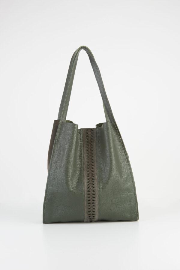 shopper-forest-green-leather-bag-fishbone-parkhouse-matchboxathens