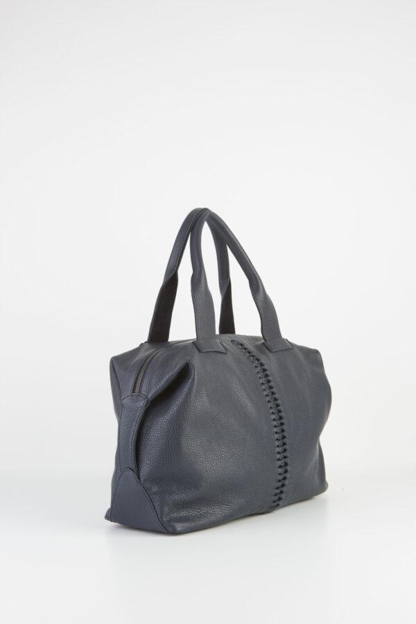 buggy-blue-black-leather-bag-tote-shoulder-fishbone-park-house-matchboxathens