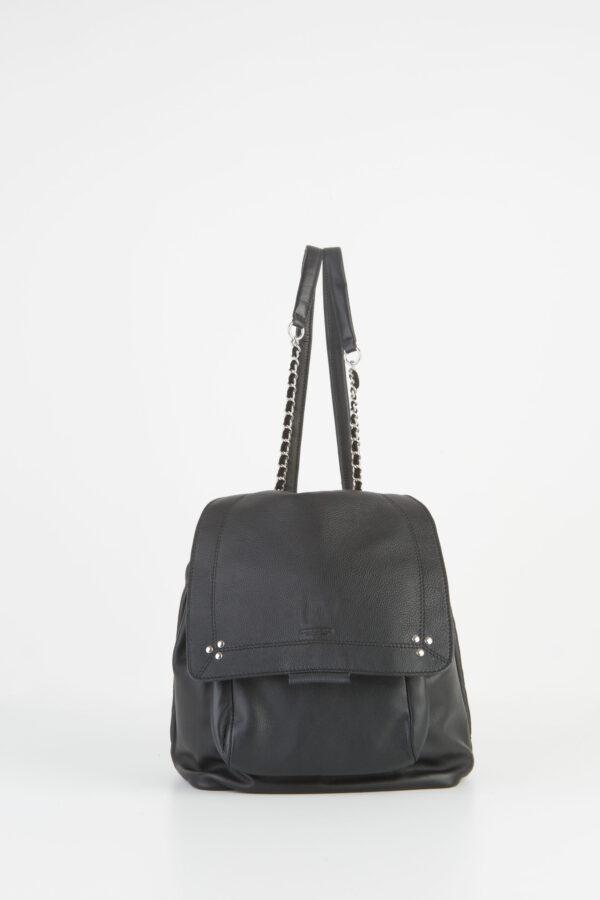 lulu-sac-black-leather-silver-backpack-jerome-dreyfuss-matchboxathens