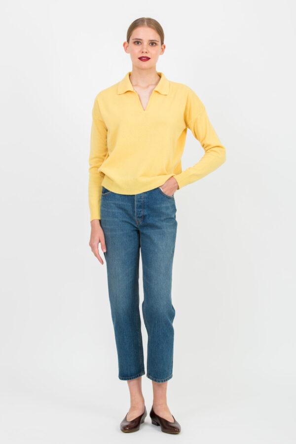 mebbir-yellow-mustard-sweater-wool-vneck-crossley-matchboxathens