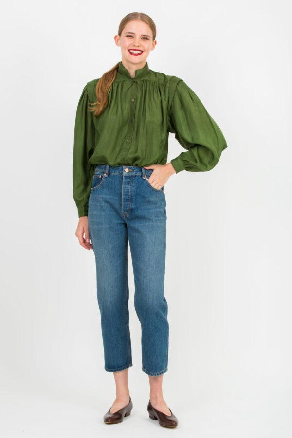 nyota-green-shirt-padding-shoulders-mesdemoiselles-matchboxathens