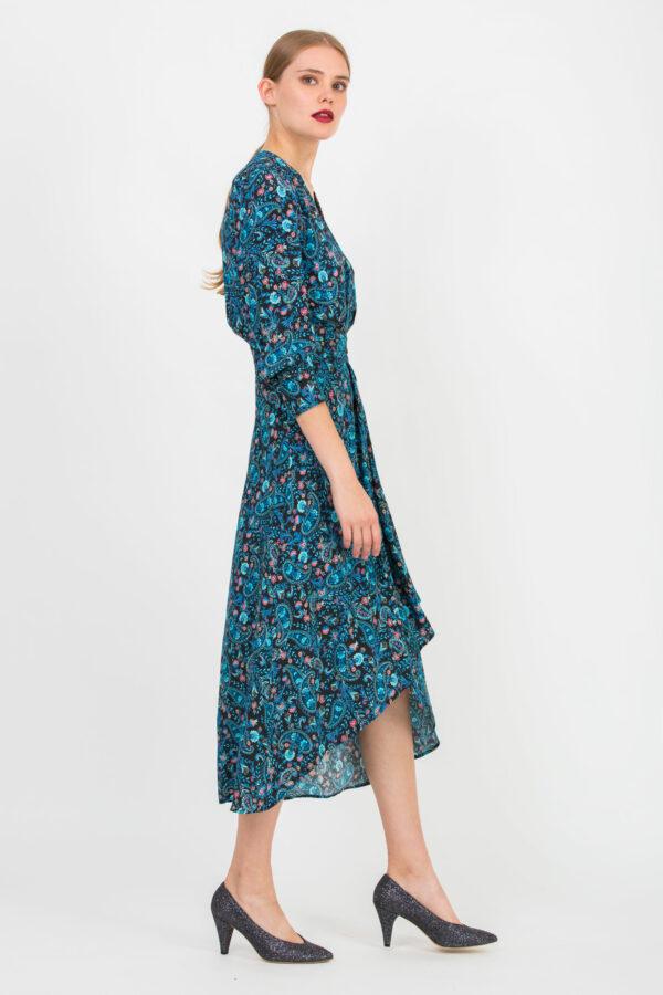 valentina-blue-paisley-dress-viscose-uniformeathens-matchboxathens